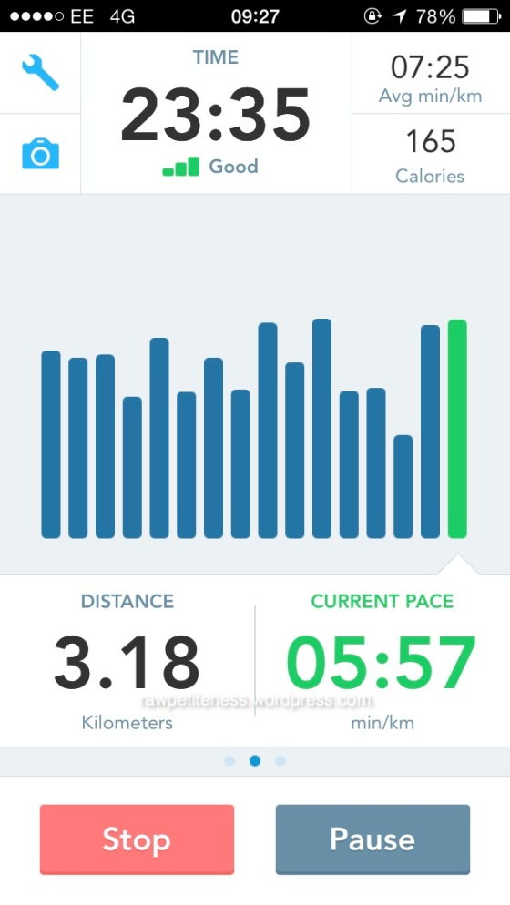 The first 3km is always the easiest.
